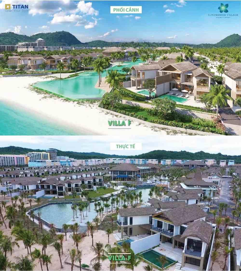 hình thực tế biệt thự bãi kem - kem beach resort