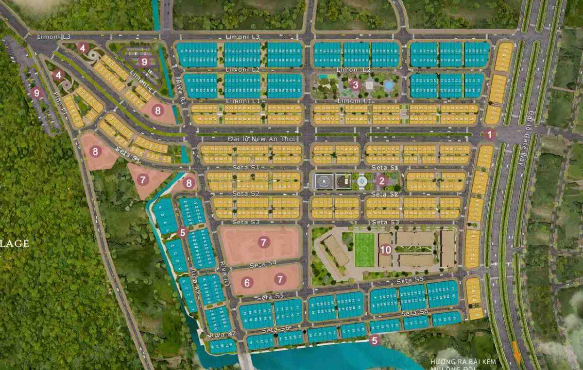 Tổng mặt bằng dự án Sun Grand City New An Thới