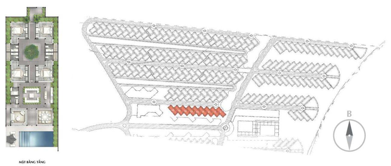 vị trí villa C-01