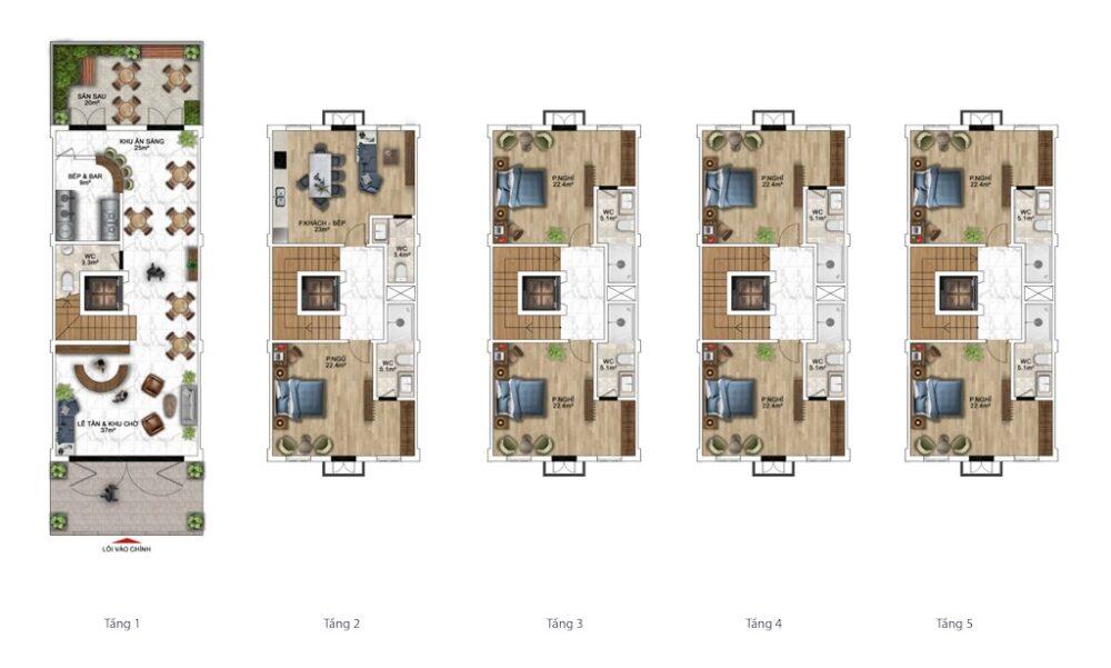 Gợi ý thiết kế nhà phố 120m2 (6x20m) Sun Grand City New An Thới 2