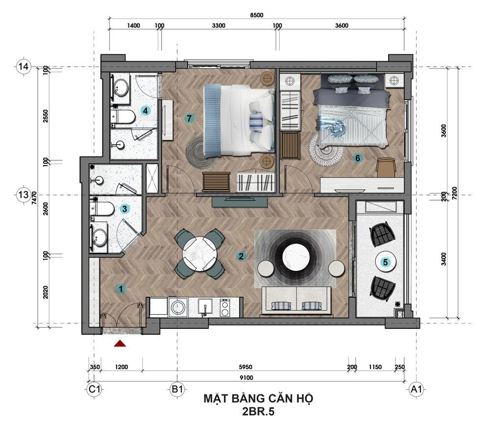 Sun Grand City Hillside Residence - Dự án Căn hộ Hillside Địa Trung Hải sườn đồi view biển - Sun Group Phú Quốc 28