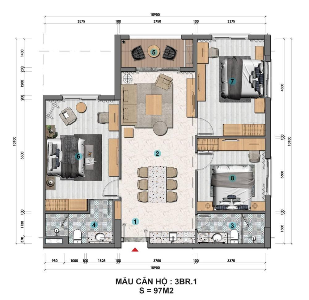 Sun Grand City Hillside Residence - Dự án Căn hộ Hillside Địa Trung Hải sườn đồi view biển - Sun Group Phú Quốc 31