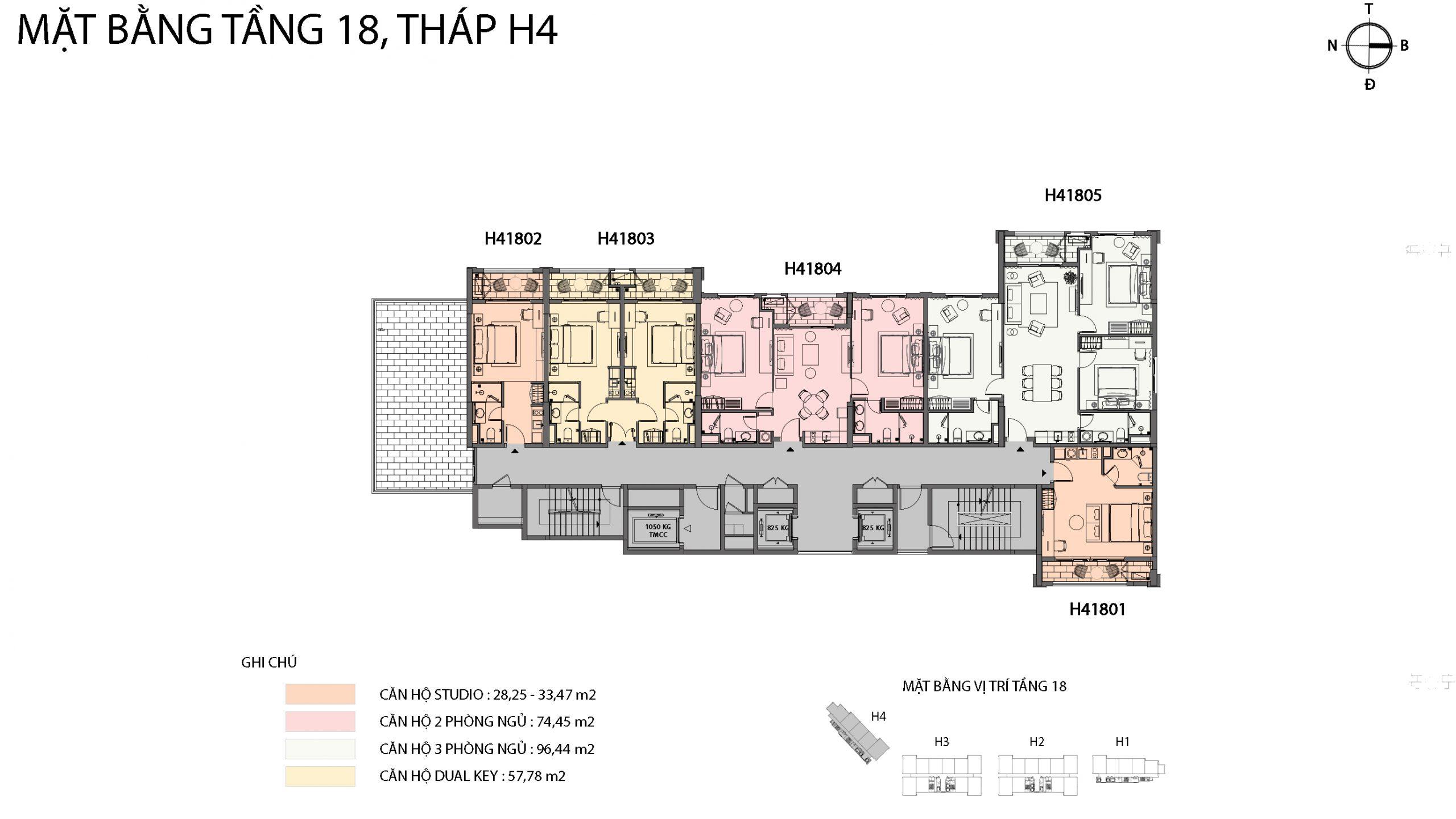 Mặt bằng chi tiết tòa căn hộ H4 - Sun Grand City Hillside Residence 16