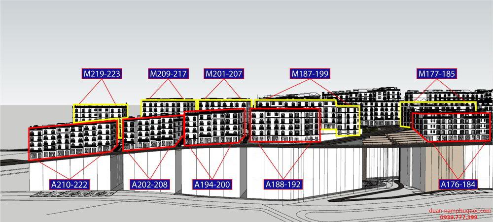 Ama 176-222 Shophouse The Center Phú Quốc
