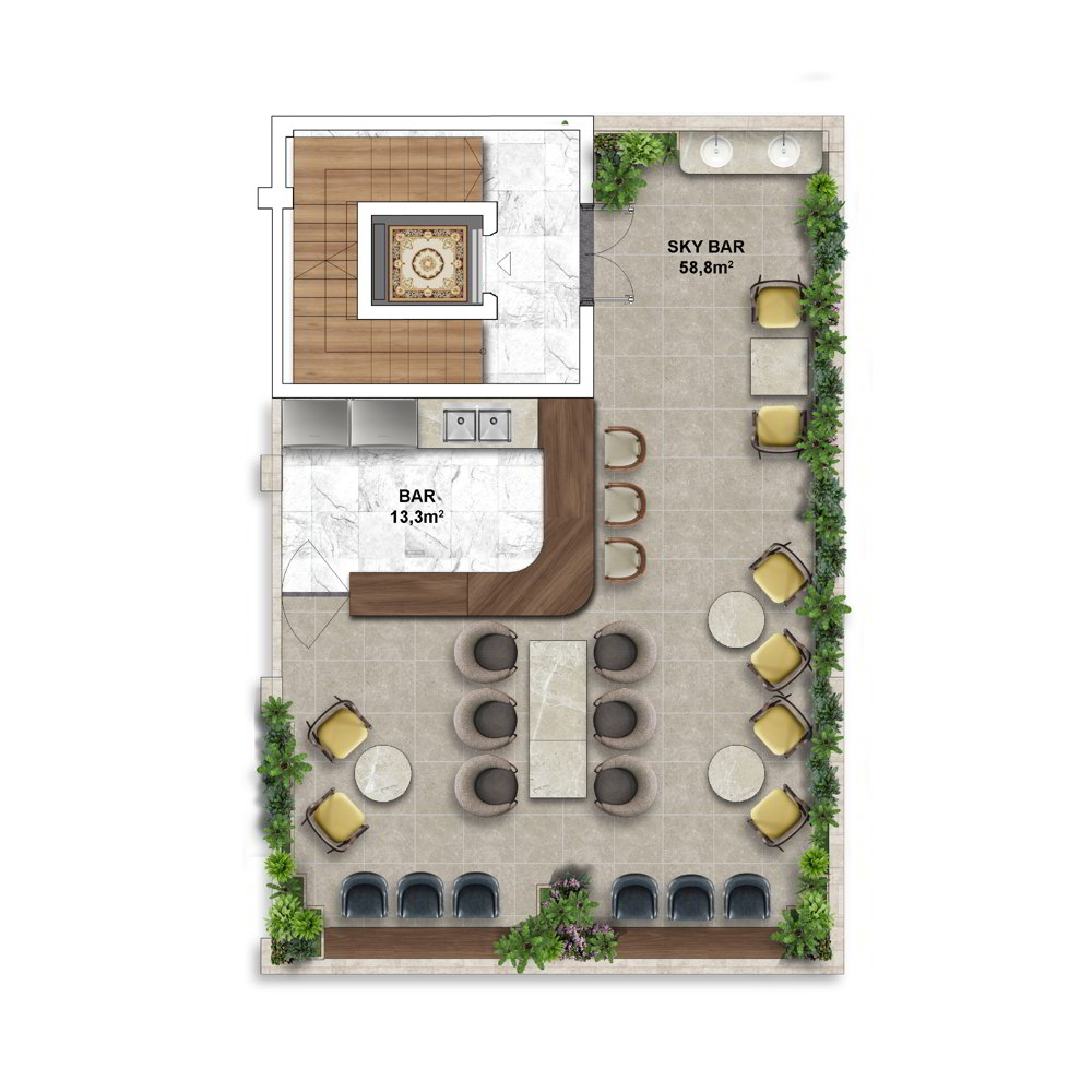 Layout điển hình Shophouse mẫu của Shophouse The Center Hillside 6