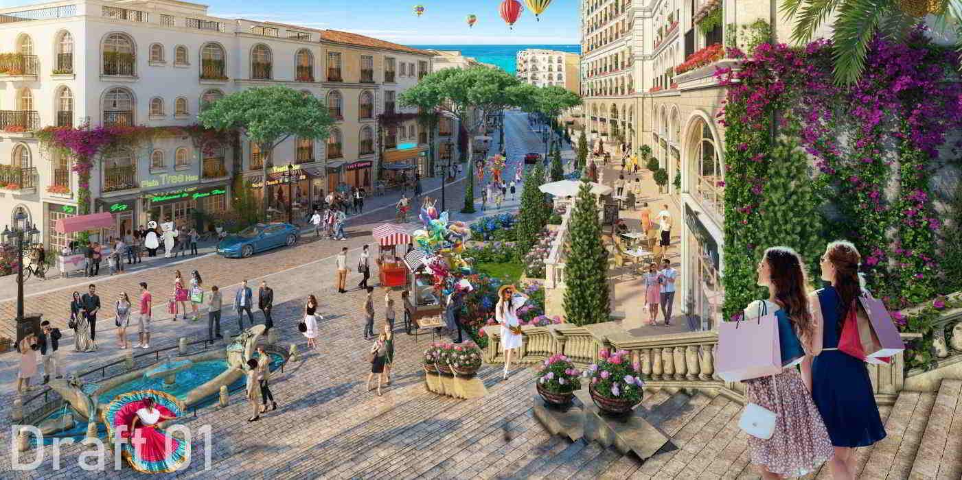 Chi tiết mặt bằng địa hình dự án The Center Phú Quốc 1