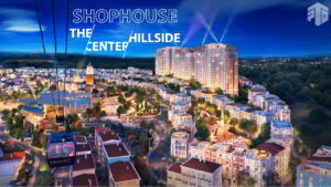 toàn cảnh shophouse the center hillside sun group