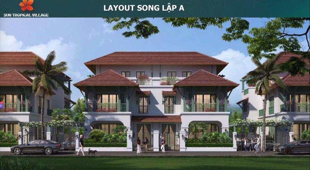 Mẫu nội thất biệt thự song lập Sun Tropical Village Phú Quốc 1