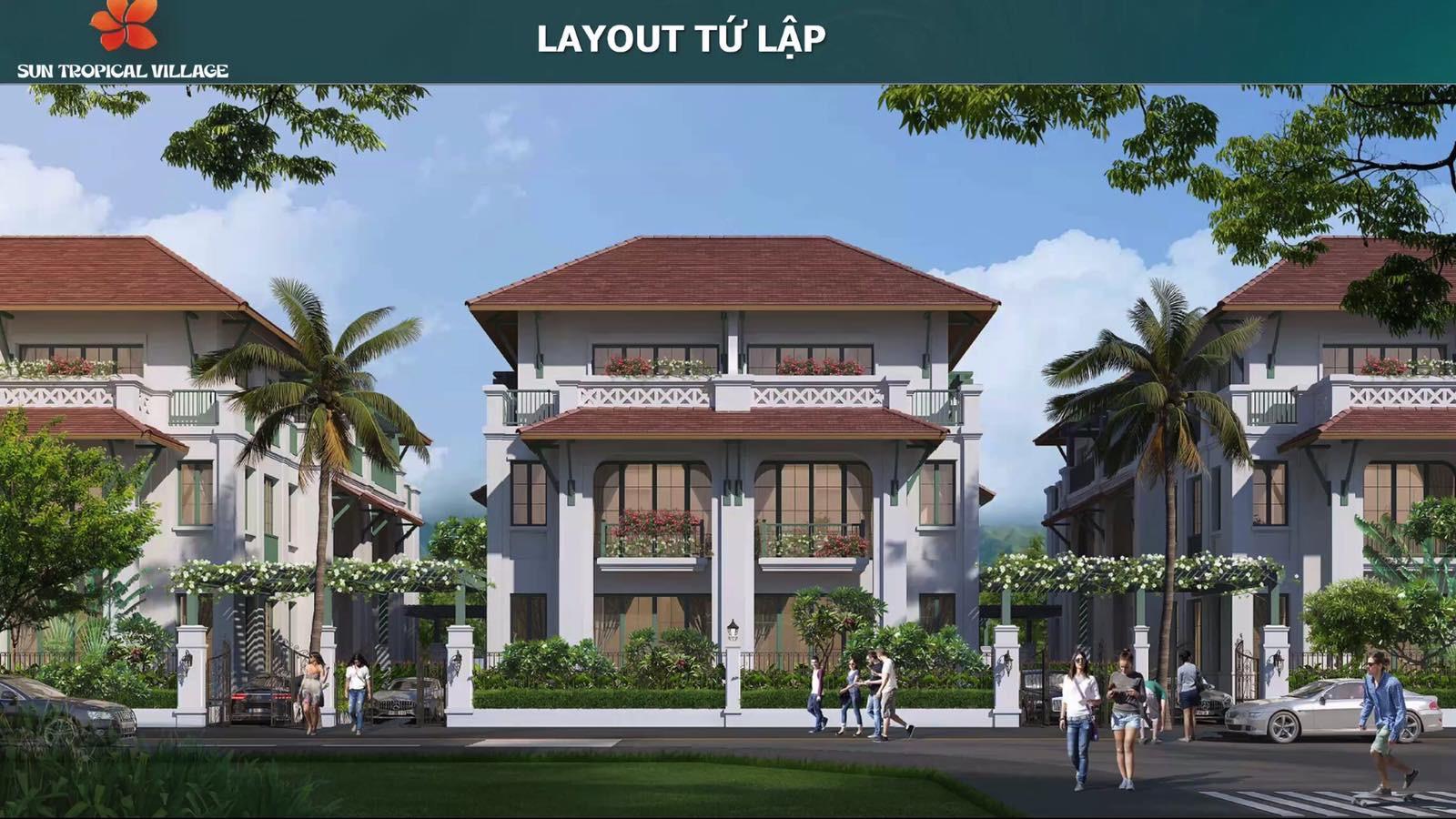 Layout biệt thự mẫu Sun Tropical Village Phú Quốc 10