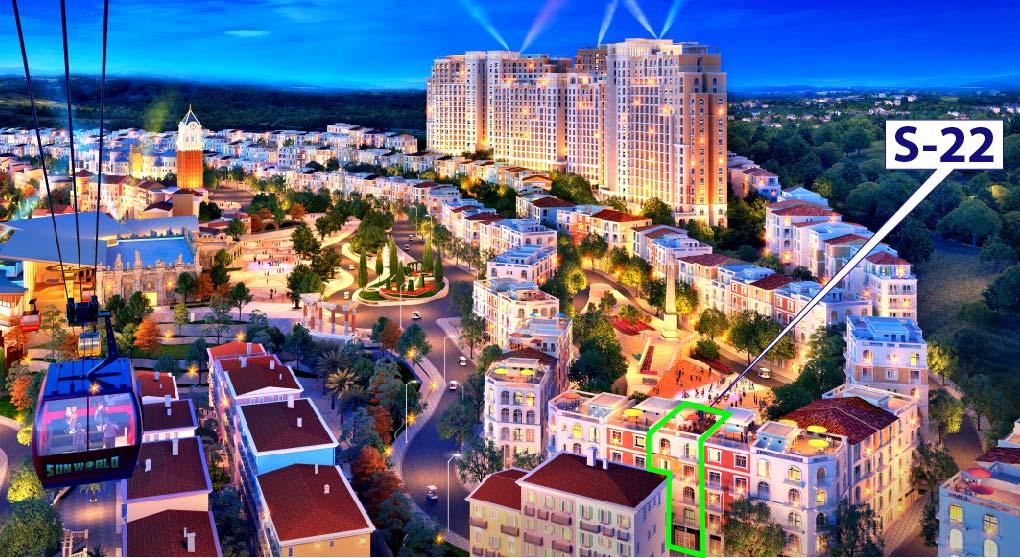 Shophouse S-22 - Căn giá tốt nhất view quảng trường Con sò The Center Hillside 3