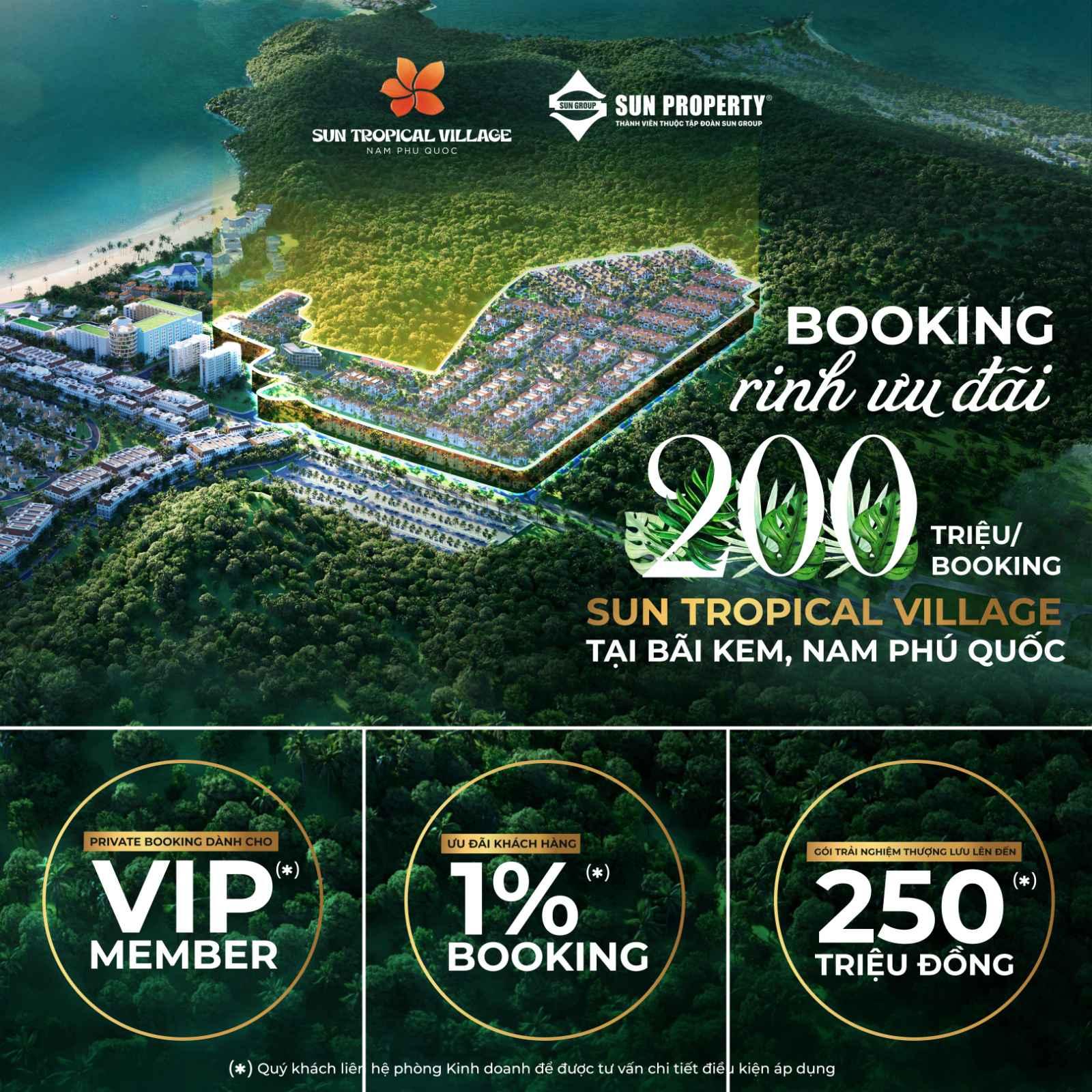 booking sun tropical village phú quốc